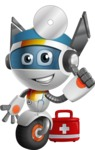 robot vector cartoon character design - OWAF - Doctor