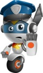 robot vector cartoon character design - OWAF - Policeman