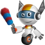 robot vector cartoon character design - OWAF - Cleaner
