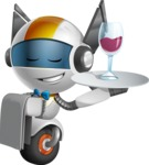robot vector cartoon character design - OWAF - Waiter