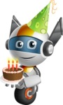 robot vector cartoon character design - OWAF - Birthday