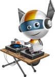 robot vector cartoon character design - OWAF - DJ