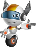 robot vector cartoon character design - OWAF - Point