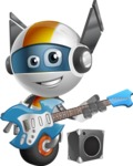 robot vector cartoon character design - OWAF - Musician