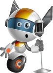 robot vector cartoon character design - OWAF - Singer