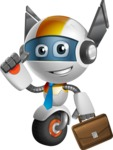 robot vector cartoon character design - OWAF - Businessman