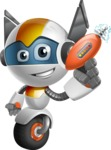 robot vector cartoon character design - OWAF - Gun 1