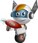 robot vector cartoon character design - OWAF - Gun 2