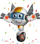 robot vector cartoon character design - OWAF - Celebrate