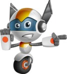 robot vector cartoon character design - OWAF - Direct Attention