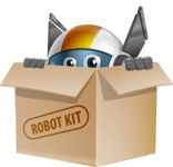 robot vector cartoon character design - OWAF - Box