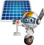robot vector cartoon character design - OWAF - Solar Panel