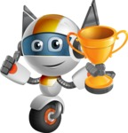 robot vector cartoon character design - OWAF - Winner