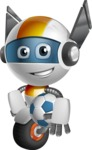robot vector cartoon character design - OWAF - Soccer