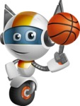 robot vector cartoon character design - OWAF - Basketball
