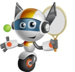 robot vector cartoon character design - OWAF - Tennis 1
