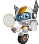robot vector cartoon character design - OWAF - Tennis 2
