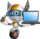 robot vector cartoon character design - OWAF - Laptop 2