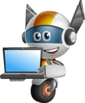 robot vector cartoon character design - OWAF - Laptop 3