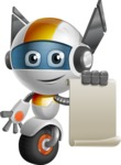 robot vector cartoon character design - OWAF - Sign 1