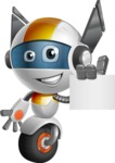 robot vector cartoon character design - OWAF - Sign 2