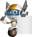 robot vector cartoon character design - OWAF - Sign 3