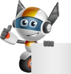 robot vector cartoon character design - OWAF - Sign 6