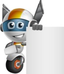 robot vector cartoon character design - OWAF - Sign 7