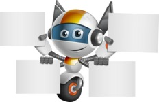 robot vector cartoon character design - OWAF - Sign 8