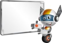 robot vector cartoon character design - OWAF - Presentation 1