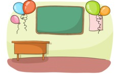 Classroom Decorated With Balloons