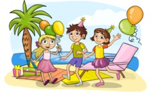 Kids' Party at the Beach