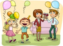 Party with Balloons