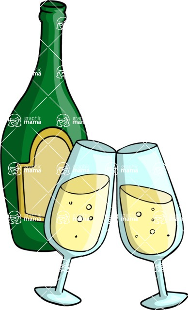 Party: Let's Have Fun - Champagne Bottle and Glasses