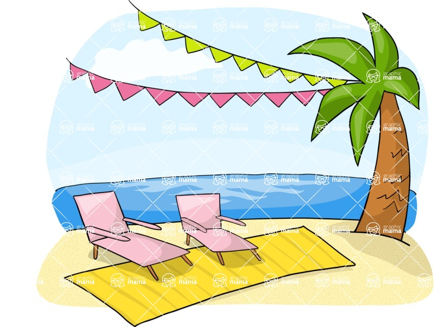 Party: Let's Have Fun - Beach Party Decoration