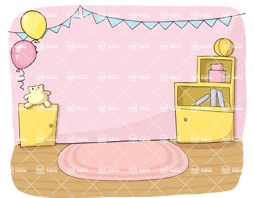 Party: Let's Have Fun - Girly Room Party Decoration