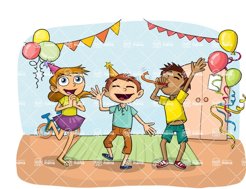 Party: Let's Have Fun - Children's Party Illustration