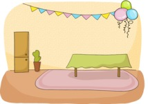 Party: Let's Have Fun - Room Decorated For a Party