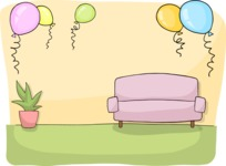 Party: Let's Have Fun - Party Decorated Living Room