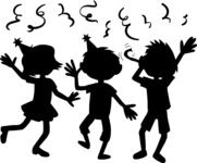 Party: Let's Have Fun - Kids at a Party Silhouettes