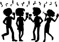 Party: Let's Have Fun - Office Party People Silhouettes