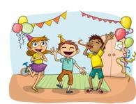 Party: Let's Have Fun - Children's Party Illustration