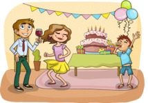 Party: Let's Have Fun - Birthday Party Illustration