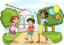 Party: Let's Have Fun - Outdoor Party Illustration