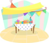 Party Table Background