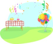Outdoor Party With Balloons