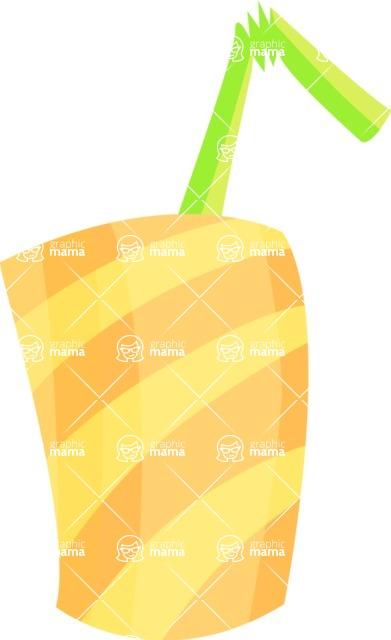 Party Vectors - Mega Bundle - Plastic Cup with a Straw