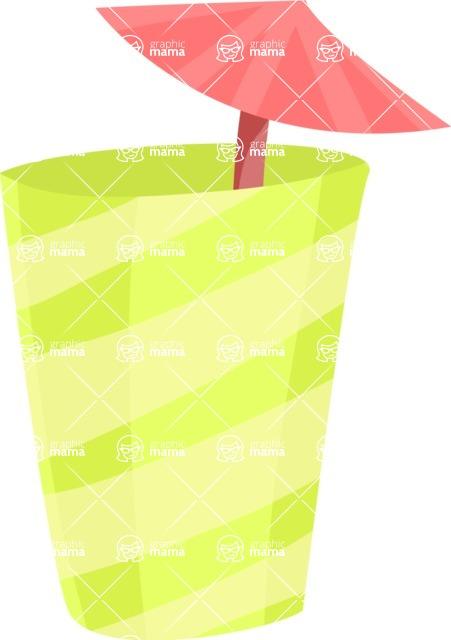 Party Vectors - Mega Bundle - Cup with a Cocktail Umbrella