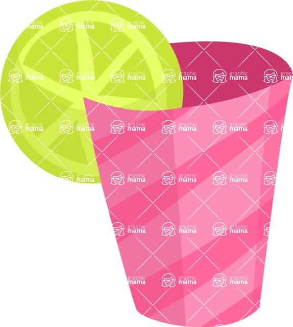 Party Vectors - Mega Bundle - Cup with a Lemon Slice
