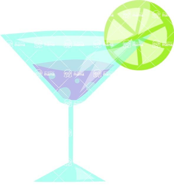 Party Vectors - Mega Bundle - Cocktail with a Lemon Slice